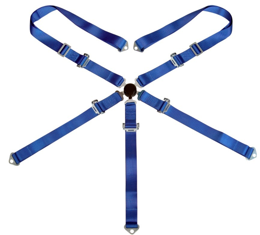 "3"" 5 Point Racing Safety Belts With Polyester Webbing + Steel Buckle"