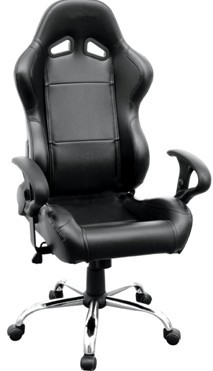 Folding PVC black  Racing Office Chair  Boss Seating Chairs Gaming seats chairs with single adjustor