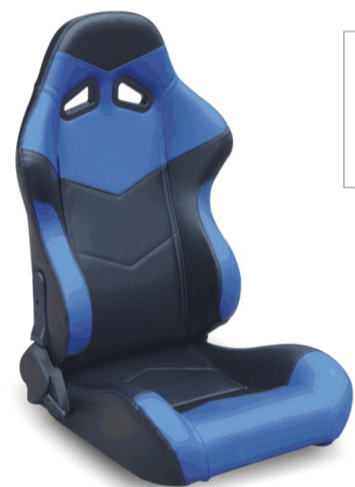 Steel Frame Blue And Black Racing Seats , Custom Bucket Seats For Cars